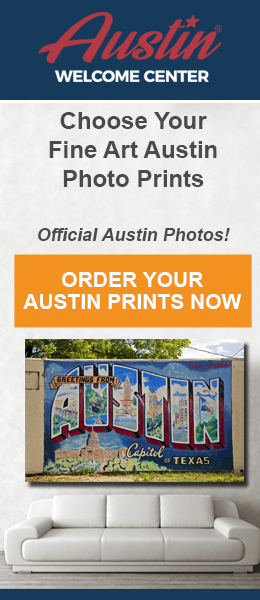 Austin Welcome Center banner ad