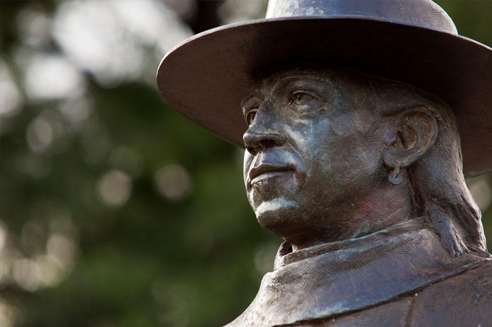 Blues Legend Stevie Ray Vaughan Statue in Austin, Texas